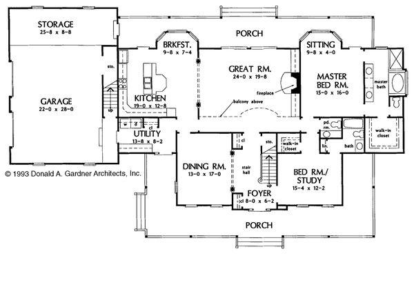 Country Floor Plan - Main Floor Plan Plan #929-22