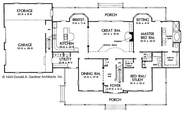Country Floor Plan - Main Floor Plan Plan #929-22