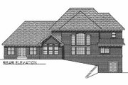 Traditional Style House Plan - 4 Beds 3.5 Baths 3443 Sq/Ft Plan #70-516 Exterior - Rear Elevation