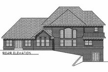 Dream House Plan - Traditional Exterior - Rear Elevation Plan #70-516