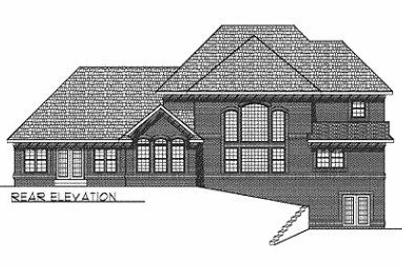 Traditional Exterior - Rear Elevation Plan #70-516 - Houseplans.com
