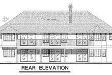 House Blueprint - Ranch Exterior - Rear Elevation Plan #18-106