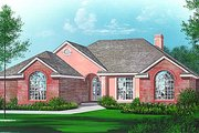 European Style House Plan - 3 Beds 2 Baths 2048 Sq/Ft Plan #15-124 Exterior - Front Elevation
