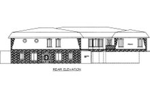 Dream House Plan - Modern Exterior - Rear Elevation Plan #117-631