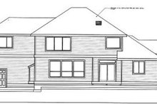 House Design - Traditional Exterior - Rear Elevation Plan #98-213