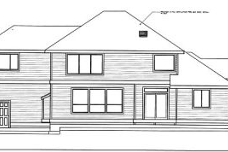 Traditional Exterior - Rear Elevation Plan #98-213 - Houseplans.com