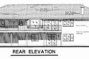 European Style House Plan - 2 Beds 2 Baths 1649 Sq/Ft Plan #18-9217 Exterior - Rear Elevation