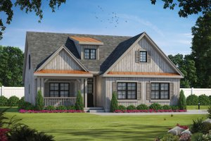 House Blueprint - Farmhouse Exterior - Front Elevation Plan #20-2411