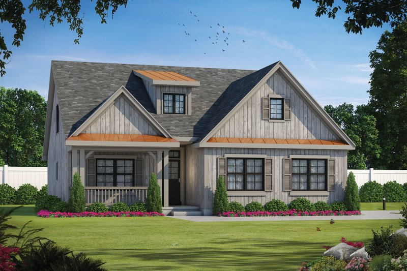 House Plan Design - Farmhouse Exterior - Front Elevation Plan #20-2411