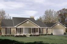 Dream House Plan - Traditional Exterior - Front Elevation Plan #22-109