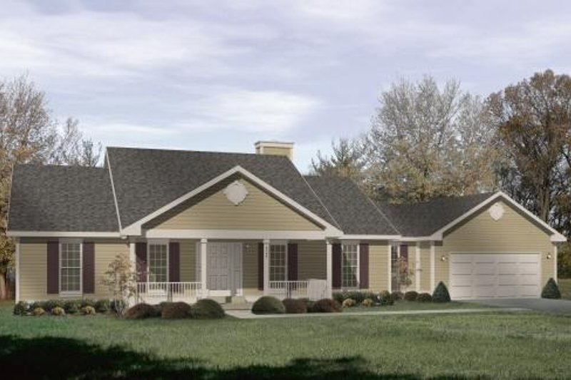 Architectural House Design - Traditional Exterior - Front Elevation Plan #22-109
