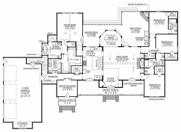 Farmhouse Floor Plan - Main Floor Plan #1074-9