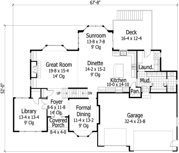 Traditional Floor Plan - Main Floor Plan Plan #51-506
