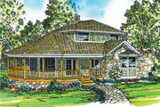 Country Style House Plan - 2 Beds 2 Baths 1575 Sq/Ft Plan #124-149 Exterior - Front Elevation