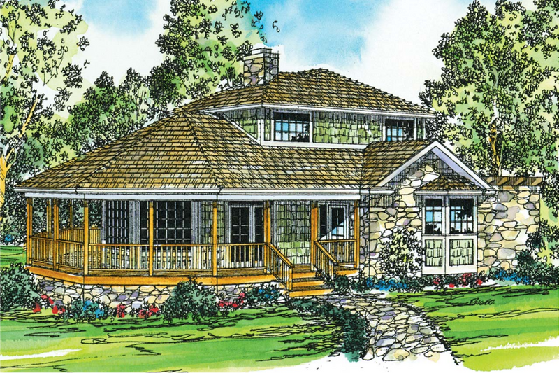 Country Exterior - Front Elevation Plan #124-149
