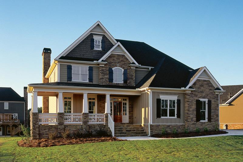 Craftsman Exterior - Front Elevation Plan #927-1 - Houseplans.com