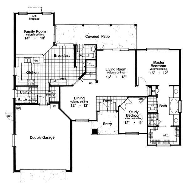 European Floor Plan - Main Floor Plan Plan #417-241