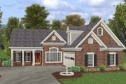 Southern Style House Plan - 3 Beds 2.5 Baths 1831 Sq/Ft Plan #56-580 Exterior - Front Elevation