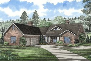 Traditional Exterior - Front Elevation Plan #17-1022