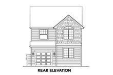 Country Exterior - Rear Elevation Plan #48-308