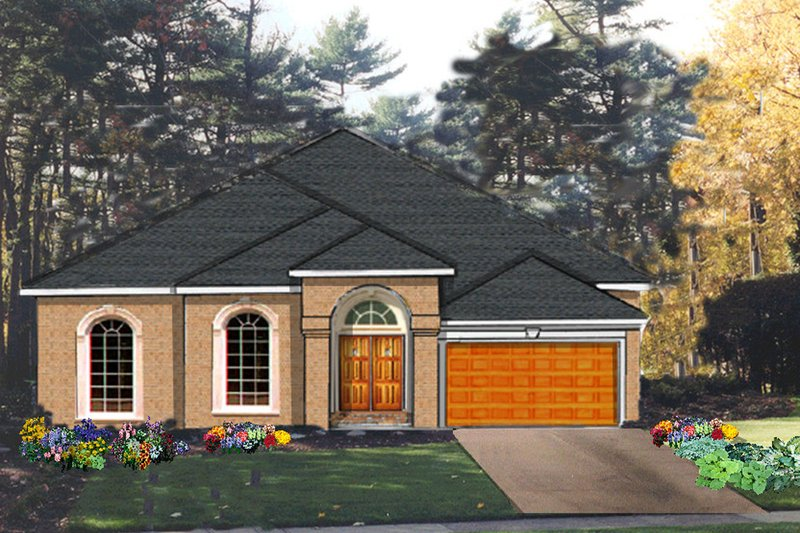 Dream House Plan - Traditional Exterior - Front Elevation Plan #3-186