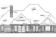 European Style House Plan - 4 Beds 3 Baths 2908 Sq/Ft Plan #310-551 Exterior - Rear Elevation