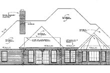 European Exterior - Rear Elevation Plan #310-551