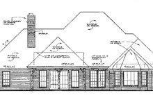 Dream House Plan - European Exterior - Rear Elevation Plan #310-551