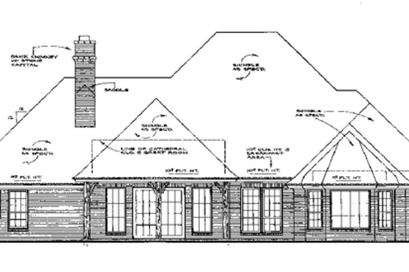 European Exterior - Rear Elevation Plan #310-551 - Houseplans.com