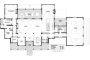 Farmhouse Style House Plan - 4 Beds 4.5 Baths 4728 Sq/Ft Plan #928-313 Floor Plan - Main Floor Plan