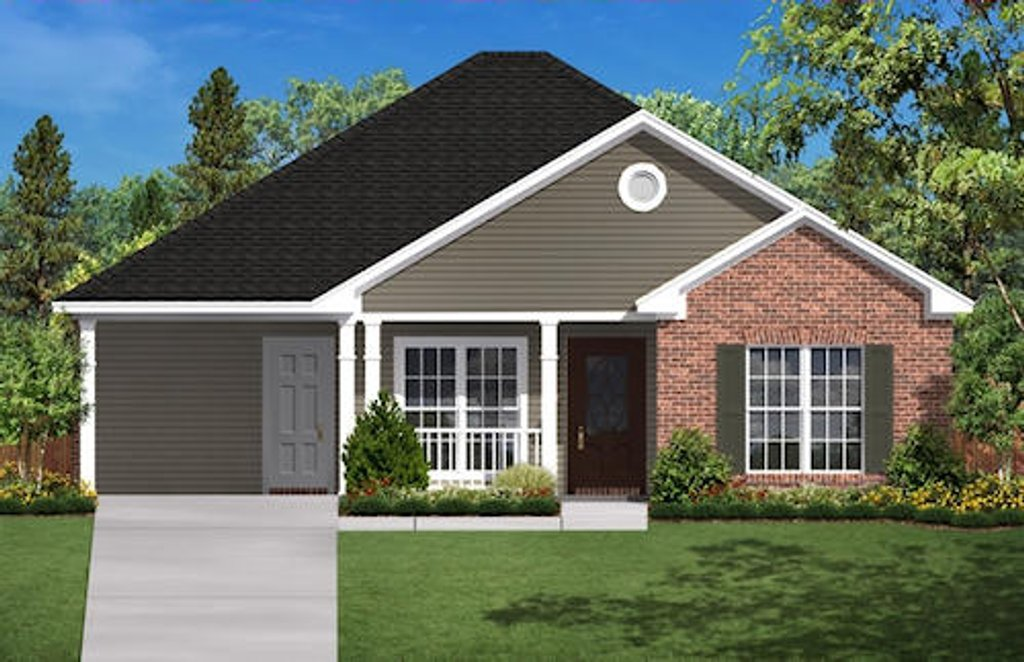 Traditional Style House Plan 2 Beds 1 Baths 900 Sq Ft Plan 430 2 Homeplans Com