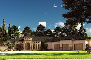 House Blueprint - European Exterior - Front Elevation Plan #923-208