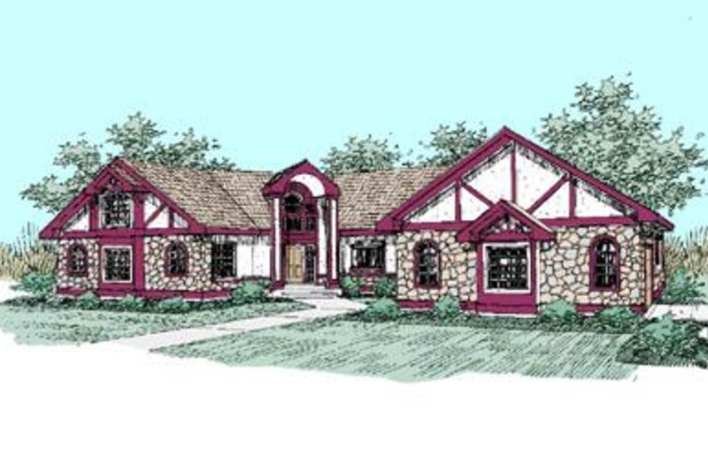 European Exterior - Front Elevation Plan #60-249