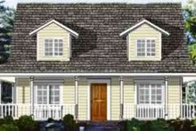 Ranch Exterior - Front Elevation Plan #3-154