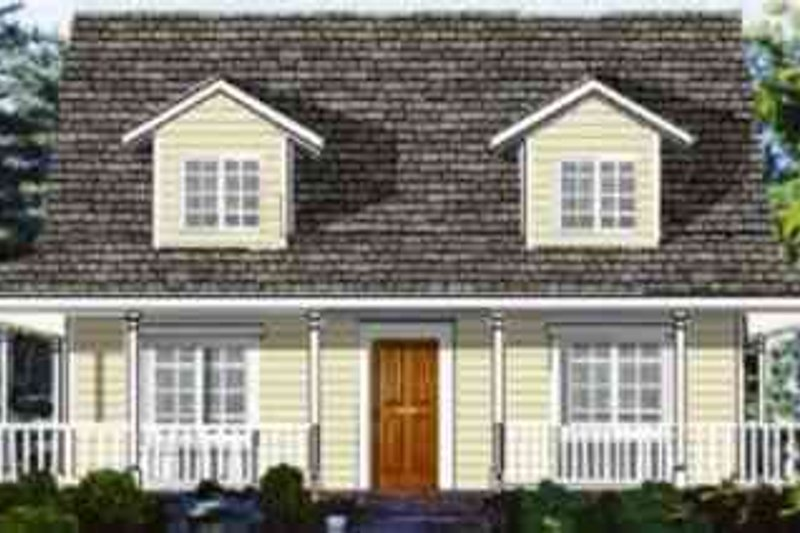 Ranch Style House Plan - 4 Beds 2.5 Baths 1863 Sq/Ft Plan #3-154 Exterior - Front Elevation