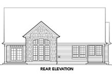 Home Plan - Traditional Exterior - Rear Elevation Plan #48-275