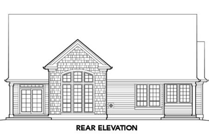 Traditional Exterior - Rear Elevation Plan #48-275 - Houseplans.com