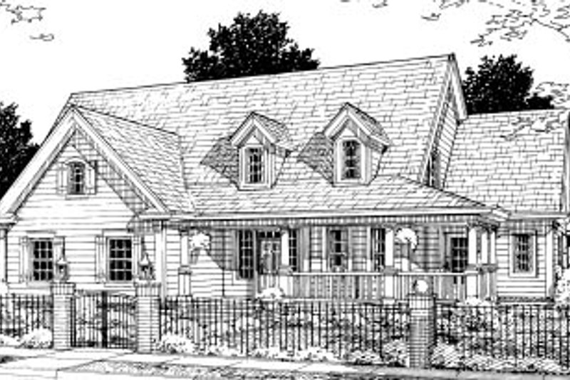 Architectural House Design - Traditional Exterior - Front Elevation Plan #20-366