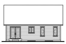 Cottage Exterior - Rear Elevation Plan #23-609