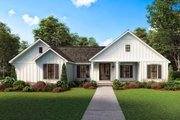 Farmhouse Style House Plan - 3 Beds 2 Baths 1474 Sq/Ft Plan #1074-26 Exterior - Other Elevation