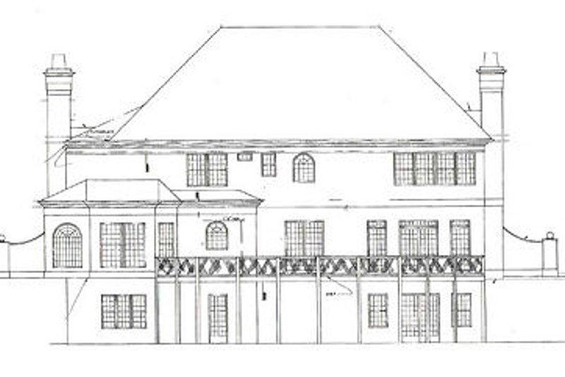 European Exterior - Rear Elevation Plan #119-306 - Houseplans.com