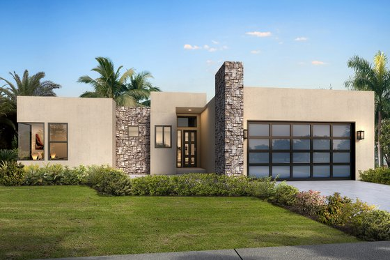 Home Plan - Modern Exterior - Front Elevation Plan #1073-6