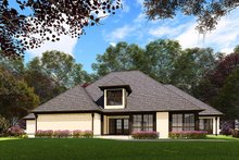Dream House Plan - European Exterior - Rear Elevation Plan #923-160