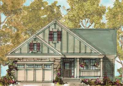 Cottage Exterior - Front Elevation Plan #20-1386