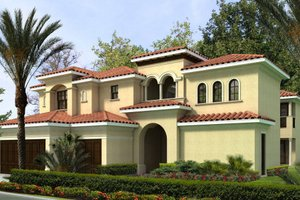 Mediterranean Exterior - Front Elevation Plan #420-237