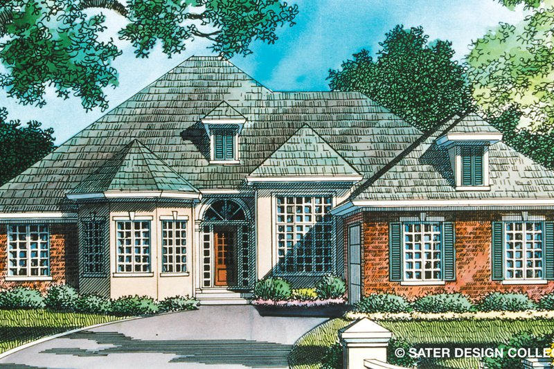 Ranch Exterior - Front Elevation Plan #930-95