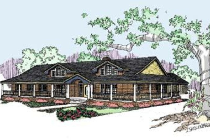 Ranch Exterior - Front Elevation Plan #60-292 - Houseplans.com