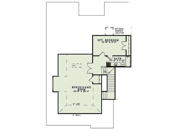European Floor Plan - Upper Floor Plan #17-2474