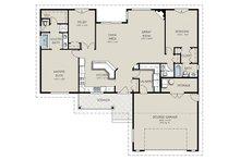 Country Floor Plan - Main Floor Plan Plan #427-10
