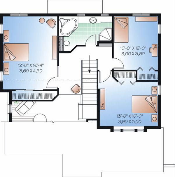 Floor Plan - Upper Floor Plan Plan #23-861